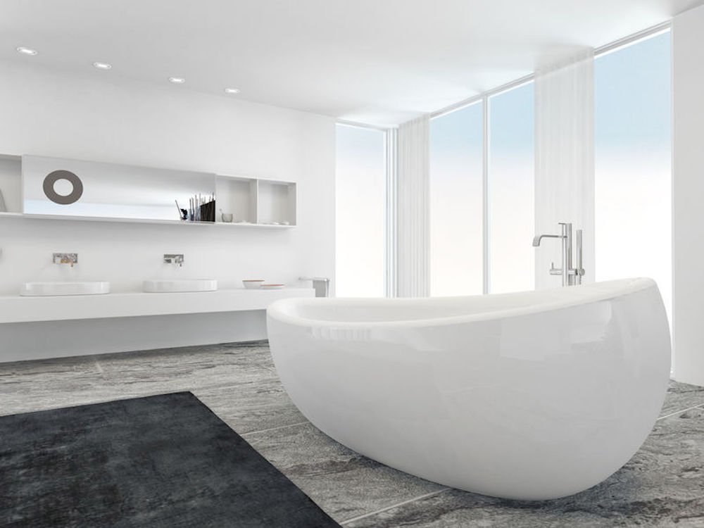 Stone Flooring Will Add Beauty, Interest, and Value to Your Bathroom
