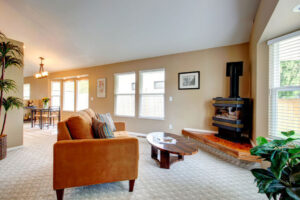 Living room with StainMaster Carpeting